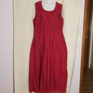 Coldwater Creek Red Burgundy Boho maxi dress 1X
